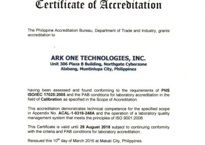 Ark One Technologies Inc. ISO IEC_17025 2005 Certificates-01