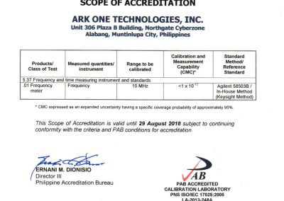 Ark One Technologies Inc. ISO IEC_17025 2005 Certificates-13